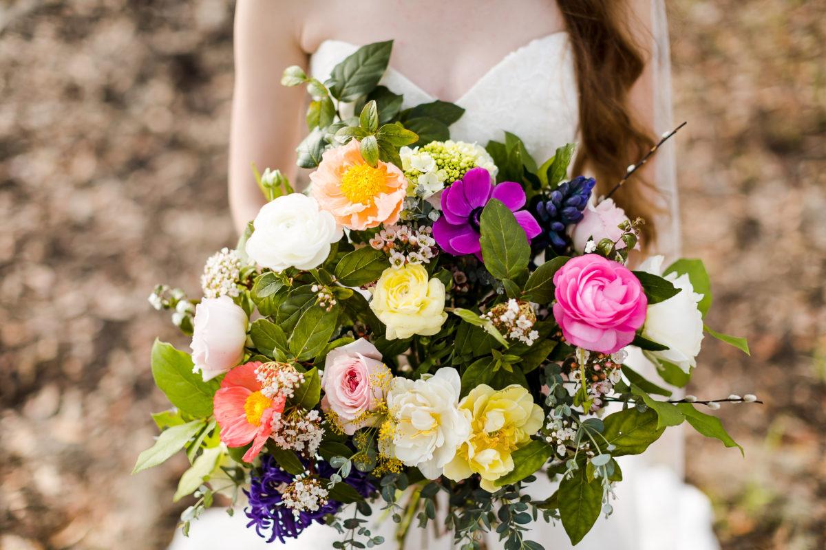 Wimbee Creek Farm bridal bouquet