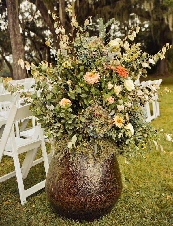 Large format flower arranment.